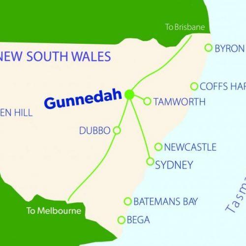 Harvest Gunnedah map